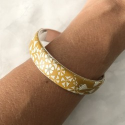 Bracelet fleurs, jaune...