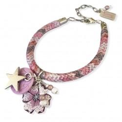 Bracelet breloques en rose...