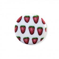 Bague aux fraises, en pâte...