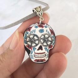 Pendentif Sugar Skull,...