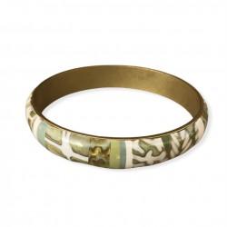 Bracelet jonc 1 cm vert...