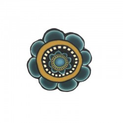 Bague fleur bleue stylisée...