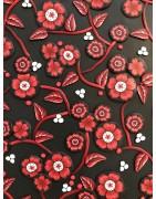 Fleurs rouges fond noir